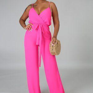 Pink Chiffon Classic Jumpsuit